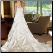 Princess Style Strapless Neckline Wedding Gown - back of dress showing lace up back and train