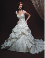 Elegant Satin and Taffeta Wedding Ballgown