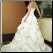 Sweetheart Neckline Satin Wedding Dress - view showing back of gown