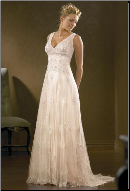 Empire Line Tulle Wedding Dress