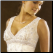 Empire Line Tulle Wedding Dress showing bodice with lace