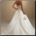 Strapless A-Line Tulle over Satin Wedding Gown showing lace up back