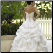 Organza Sweetheart Neckline Bridal Ballgown - back of gown showing lace up back and train