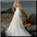 One-Shoulder Beach Wedding Gown - back of this beautiful gown