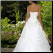 Strapless Sweetheart Neckline Taffeta Wedding Dress - back view showing train and lace up back