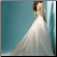 Strapless A-Line Satin Wedding Gown - back view of train
