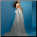 Strapless Empire Line Wedding Dress - back view
