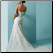 Mermaid Strapless Sweetheart Neckline Satin Wedding Dress - view of back of gown