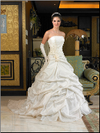 Strapless Satin and Taffeta Ball Gown
