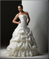 Strapless Satin Ball Gown