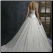 Organza Wedding Dress - back view showing train