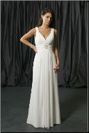 Simple Empire Line Wedding Dress
