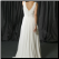 Simple Empire Line Wedding Dress - back view showing elegant train and back detail