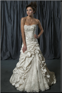 Satin and Lace A-Line Ballgown