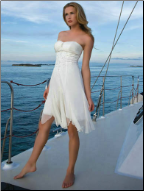 Handkerchief Style Knee Length Graduation Dress