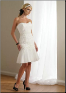 Sweetheart Neckline Strapless Knee Length Grad Dress