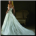 Strapless atin and Organza Wedding Gown showing back of dress and train