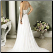 Sweetheart Neckline Chiffon Wedding Dress showing back of gown and train