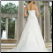 A Line Sweetheart Neckline Satin Wedding Gown - showing train