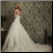 Embroidered Satin and Tulle Wedding Gown with Lace showing back of gown