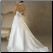 Halter Neckline Satin Wedding Gown - view of exquisite train and low cut back