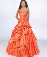 Quinceanera Gown in Taffeta with Beading