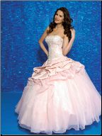 Quinceanera Ballgown in Satin and Organza