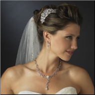 Alexandra Antique Silver Clear Crystal Headpiece