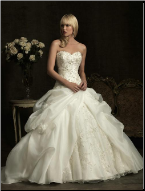 Fairytale Princess Satin Wedding Gown