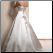 A-Line Strapless Satin with Lace Wedding Gown - back of dress showing elegant corset lace-up closure