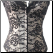 Lace-trimmed Tapestry Basque Corset