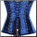 Embroidered Brocade and Velvet Under-wired Zip Front Corset