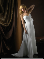 Adorable Chiffon Wedding Gown
