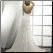 Adorable Strapless Chiffon Gown showing back of gown with lace up closure