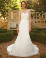 Bateau Neckline Satin and Organza Wedding Gown