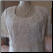 Beaded Chiffon Informal Wedding Gown with Short Sleeves - close-up of bodice