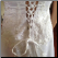 White Beaded Wedding Gown with Lace-up Back and Shoulder Straps
