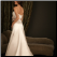 Beautiful Strapless Satin Wedding Dress back of gown