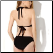 Chic Black One-piece Swimsuit with Cut-out Side