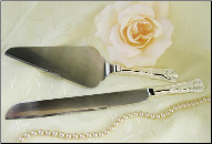 Elegant Silver Plated Cake Server Set