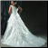 Plus Size Satin and Lace Wedding Dress - beautiful back and train of this elegant gown