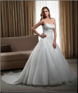 Charming Strapless Organza Gown