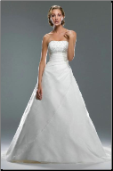 Chic Strapless Satin Wedding Dress