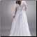 Chiffon Bridal Gown with Cape Sleeves - showing back of gown
