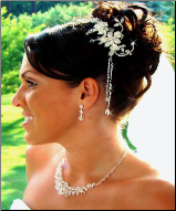 Crystal Glamour Bridal Comb with Crystal Drops