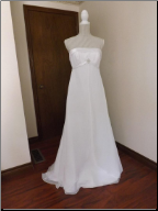 Davids Bridals Strapless Wedding Dress in stock size 8