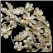 Diane Rhinestone and Ivory Pearl Floral Side Headband - silver and rhinestones with ivory pearls - close-up