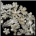 Diane Rhinestone and Ivory Pearl Floral Side Headband - light gold / champagne close-up