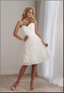 Sweetheart Neckline A-Line Graduation Dress