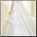 Elegant Gathered Taffeta and Organza Wedding Gown - back of gown